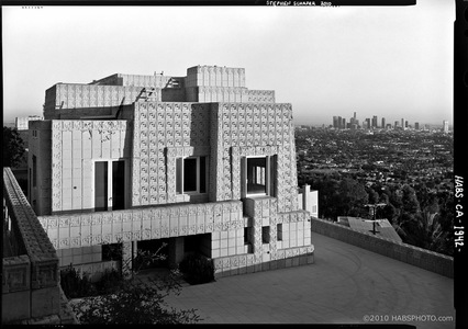 ENNIS HOUSE ENTRY • HABS