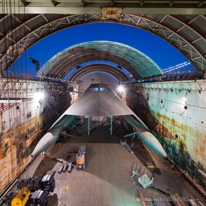 SEA SHADOW IN HMB-1 DRY DOCK • HAER PHOTOGRAPHY