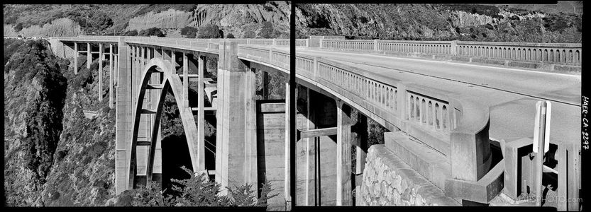 BIXBY BRIDGE TWO-PART PANORAMA • HAER PHOTOGRAPHY