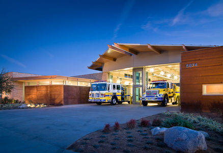 VC FIRE STATION 43 AT DUSK