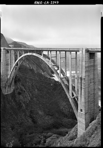 Bixby Bridge Arch Detail • HAER PHOTOGRAPHY